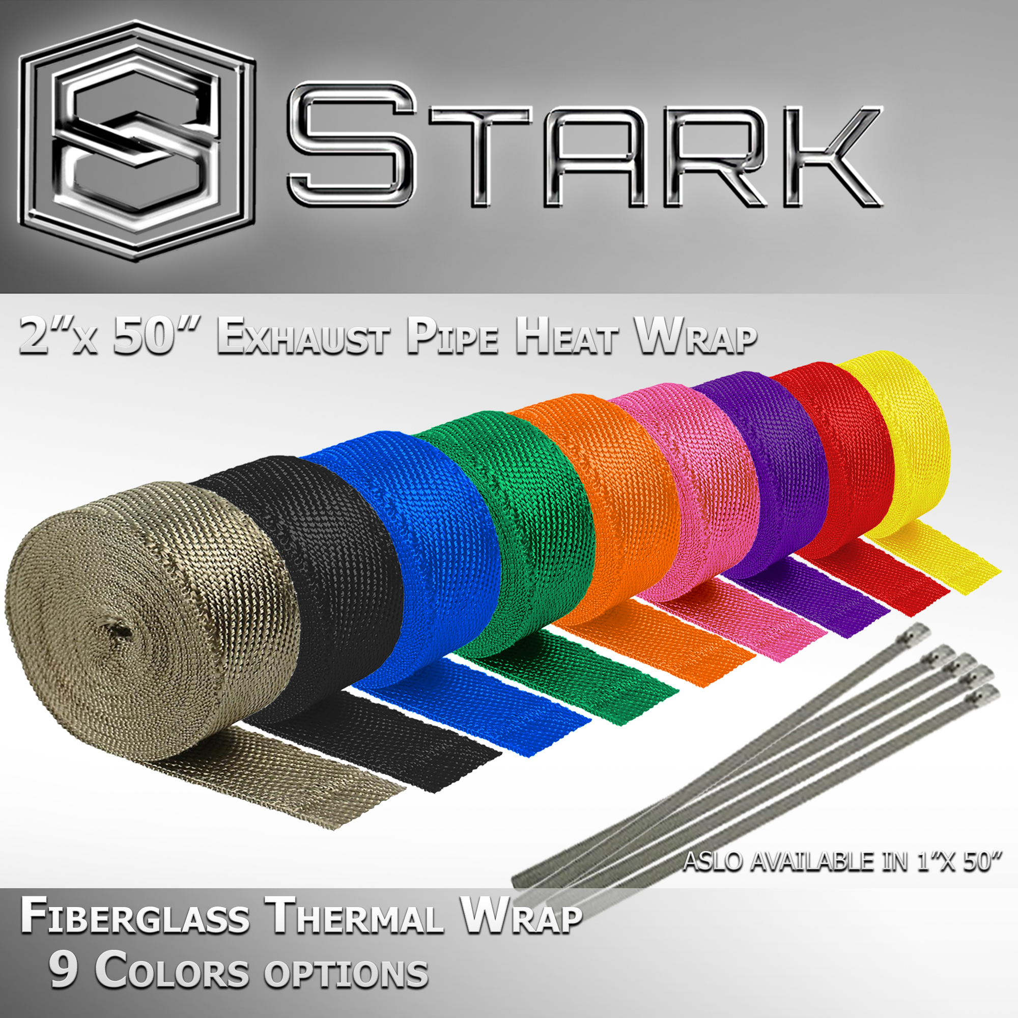 30 ft Aluminum Coated Motor//Cycle Header Exhaust Intake Manifold Heat Wrap Roll